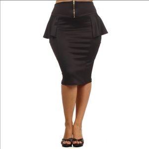 Dresses & Skirts - plus size peplum pencil skirt 1X